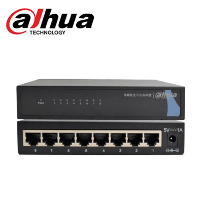 Gigabit Switch 8 Port ยี่ห้อ Dahua DH-S3000C-8GT
