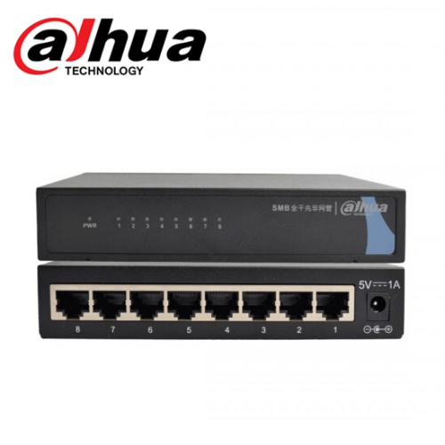 Gigabit Switch 8 Port ยี่ห้อ Dahua DH-S3000C-8GT