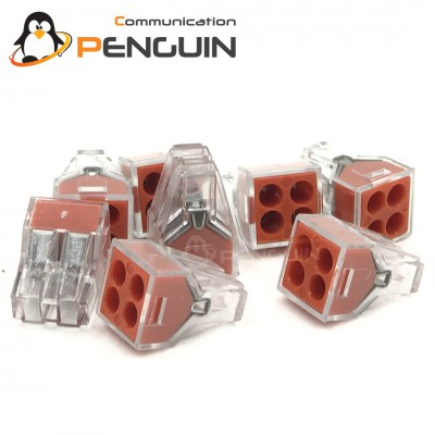 PCT-104 Wire Connector ต่อสายไฟ 4 ช่อง 0.75-2.5(4.0)mm²