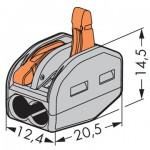 ขั้วต่อสายไฟ 2 ช่อง (0.08 - 2.5 sq.mm) PCT-212