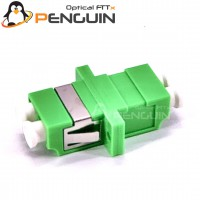 LC/APC Single mode Duplex Fiber Optic Adapter With Flange