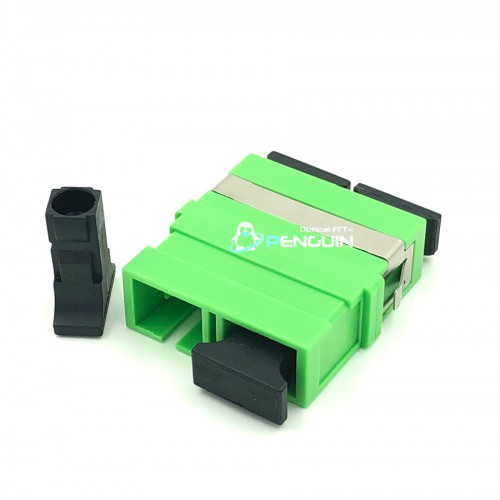 SC/APC ADAPTER DX-SM (Green no Flange)