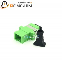 SC/APC ADAPTER SX-SM (Green With Flange)