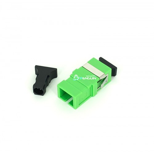 SC/APC ADAPTER SX-SM (Green no Flange)