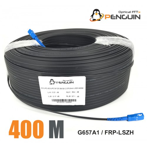 PENGUIN ASSEMBLY CABLE FTTH 1 CORE SC/UPC G.657A-LSZH 400M [OUTDOOR]