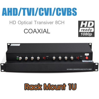 HD Optical Transciver 8CH (1080P) Rack Mount รองรับ AHD/TVI/CVI/CVBS