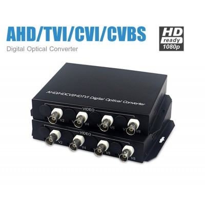 Digital Optical Converter 4CH (1080P) รองรับ AHD/TVI/CVI/CVBS