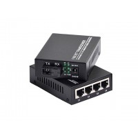 MEDIA CONVERTER 100/1000 SWITCH 4+4 SM/20KM