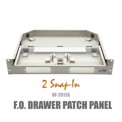 F.O RACK MOUNT DRAWER 1U (Patch Panel) Link รุ่น UF-2012A
