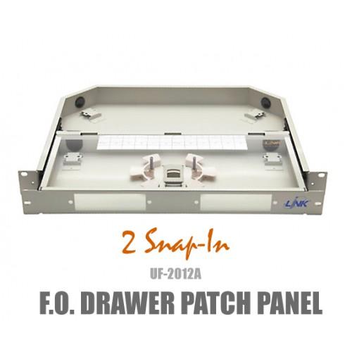 F.O RACK MOUNT DRAWER 1U (Patch Panel) Link รุ่น UF-2012A