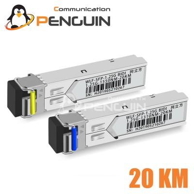 SFP-GE-LX-SM1310/1550-BIDI (1.25G-20KM)