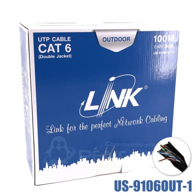 CAT6 Outdoor (600MHz) LINK US-9106OUT-1 กล่อง 100 เมตร