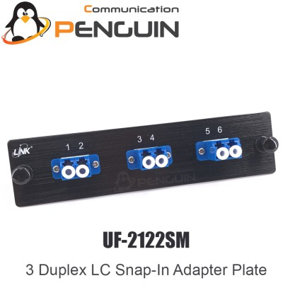 3 LC Duplex Snap-In Adapter PLATE ยี่ห้อ Link รุ่น UF-2122SM