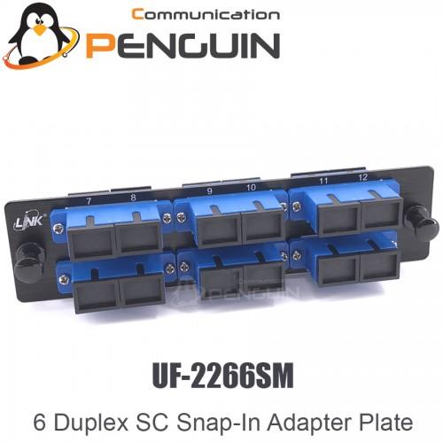 6 SC Duplex Snap-In Adapter PLATE ยี่ห้อ Link รุ่น UF-2266SM