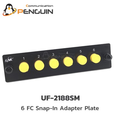 SNAP IN ADAPTER-PLATE 6 FC / SM LINK (UF-2188SM)