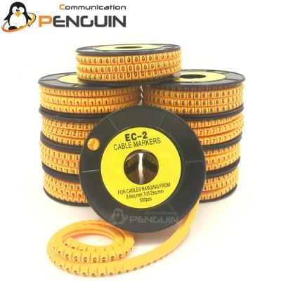 Cable Marker 0-9 (EC-2) 3.6-7.4mm (500 ชิ้น/ม้วน)