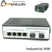 Gigabit Industril PoE Switch 4 Port (2SFP Uplink)