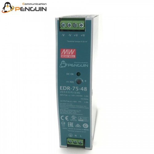 EDR-75-48 Industrial Din Rail Power Supply 48V/1.6A (75W)