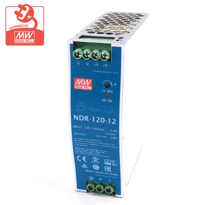 NDR-120-12 Industrial Din Rail Power Supply 12V/10A (120W)