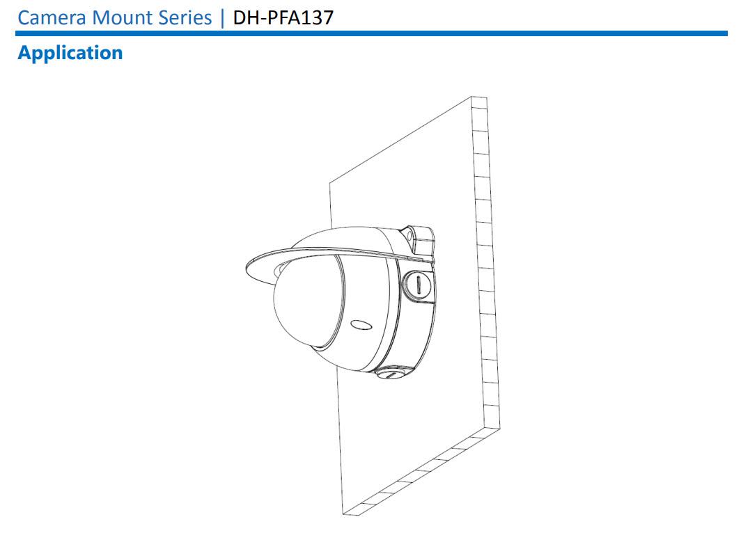 กล่องยึดกล้องวงจรปิด (Junction Box for Dahua Camera) รุ่น PFA137