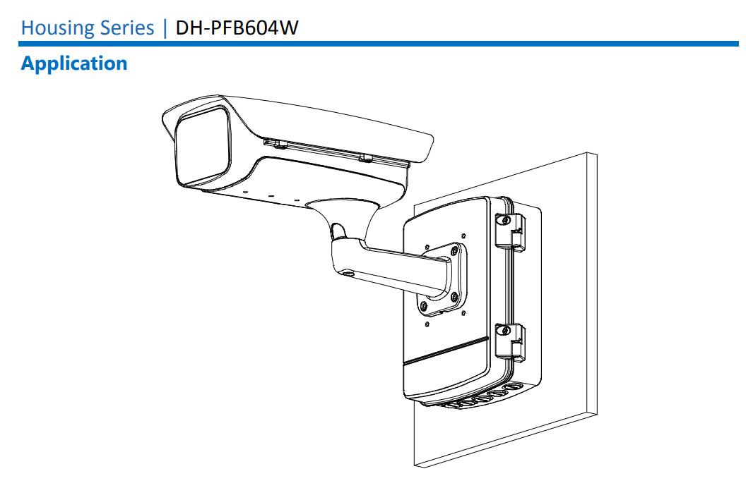 ขายึดกล่องใส่กล้องวงจรปิด ติดผนัง Dahua รุ่น PFB604W